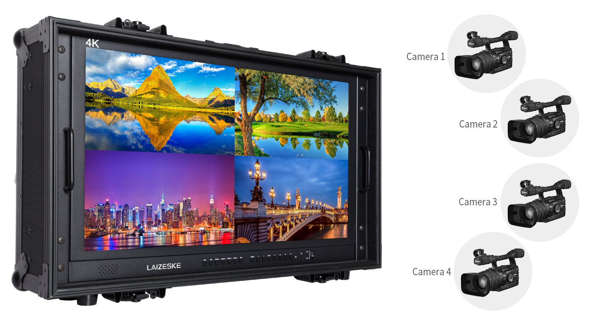 3840x2160-UHD-resolution director-monitor-with-quad-split