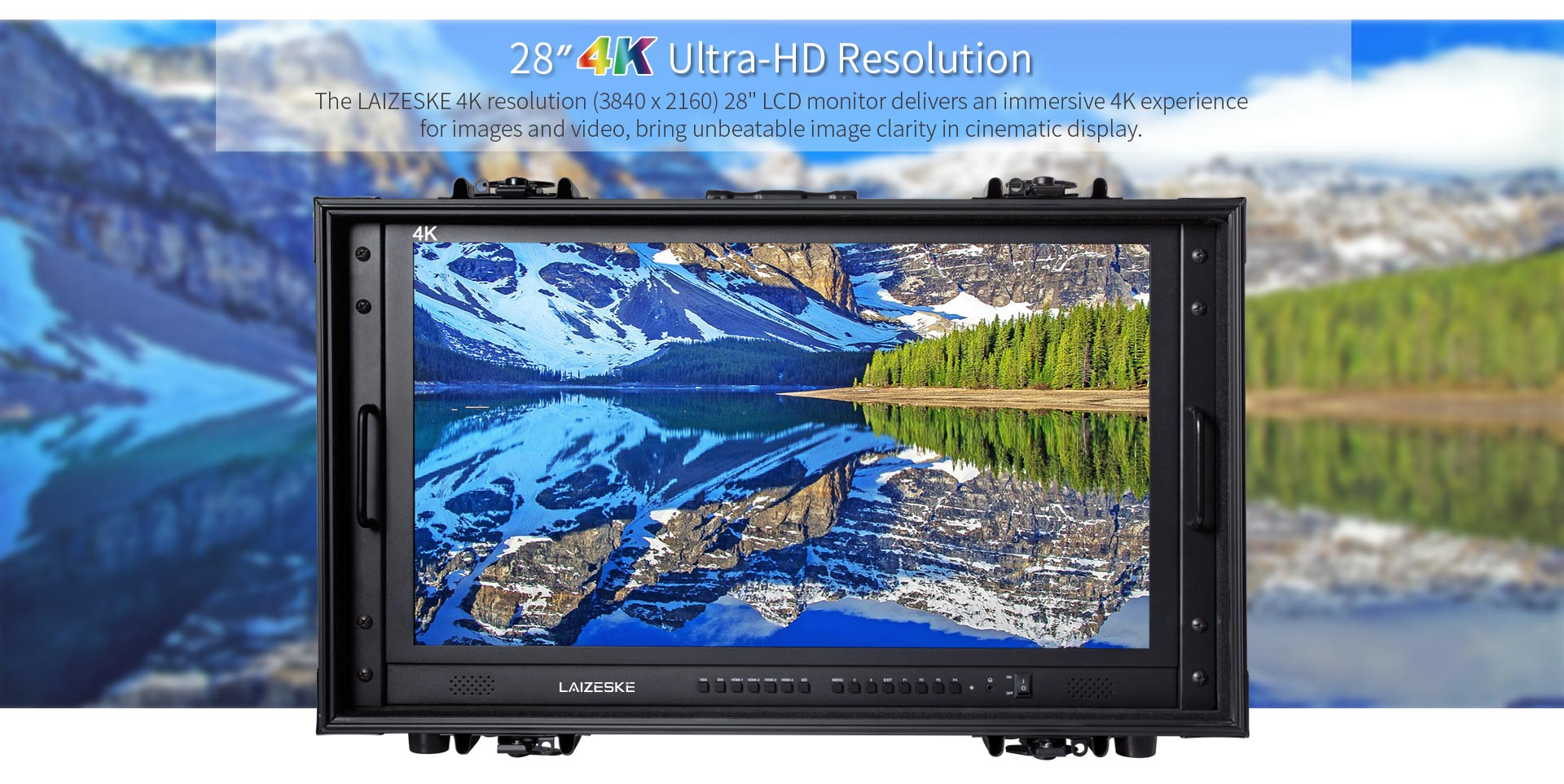 "28"" 4k ultra-hd resolution carry-on broadcast director monitor for"
