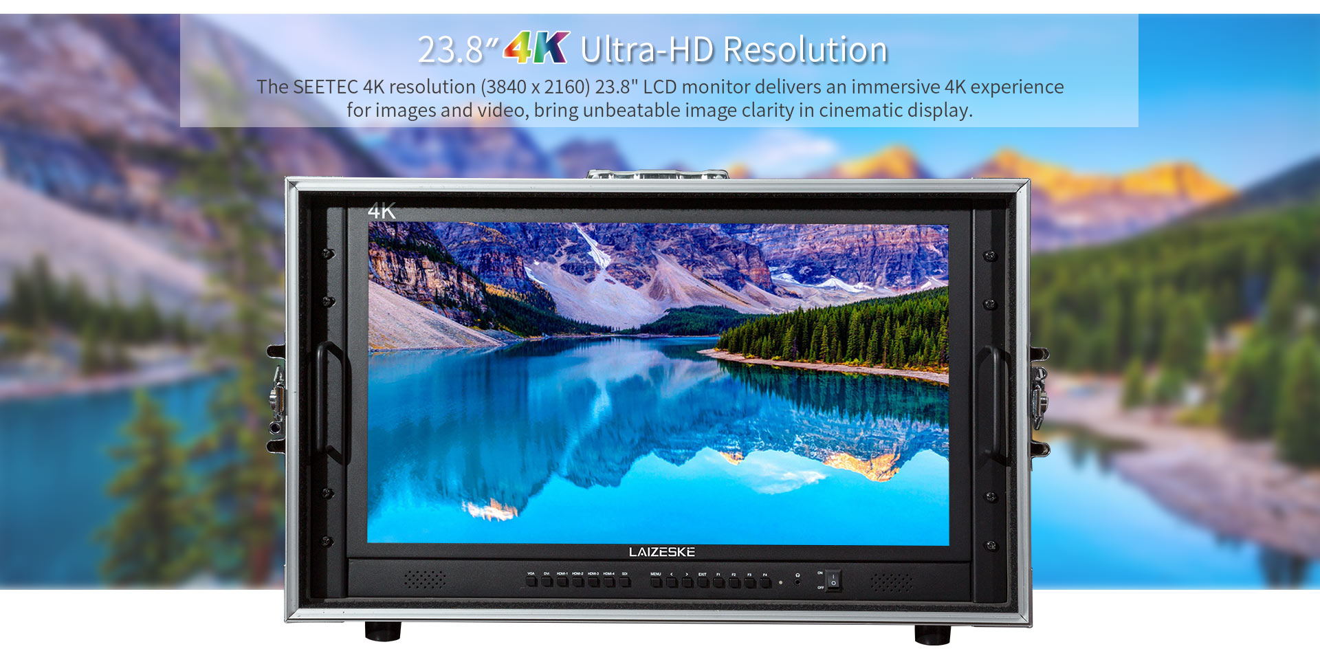 "laizeske 23.8"" 4k(3840 x 2160) ultra-hd resolution carry-on"